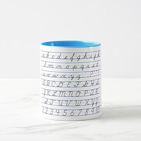 Amazon zazzle english alphabet diagram in cursive handwriting zazzle english alphabet diagram in cursive handwriting coffee mug light blue combo mug 11 oz ccuart Images