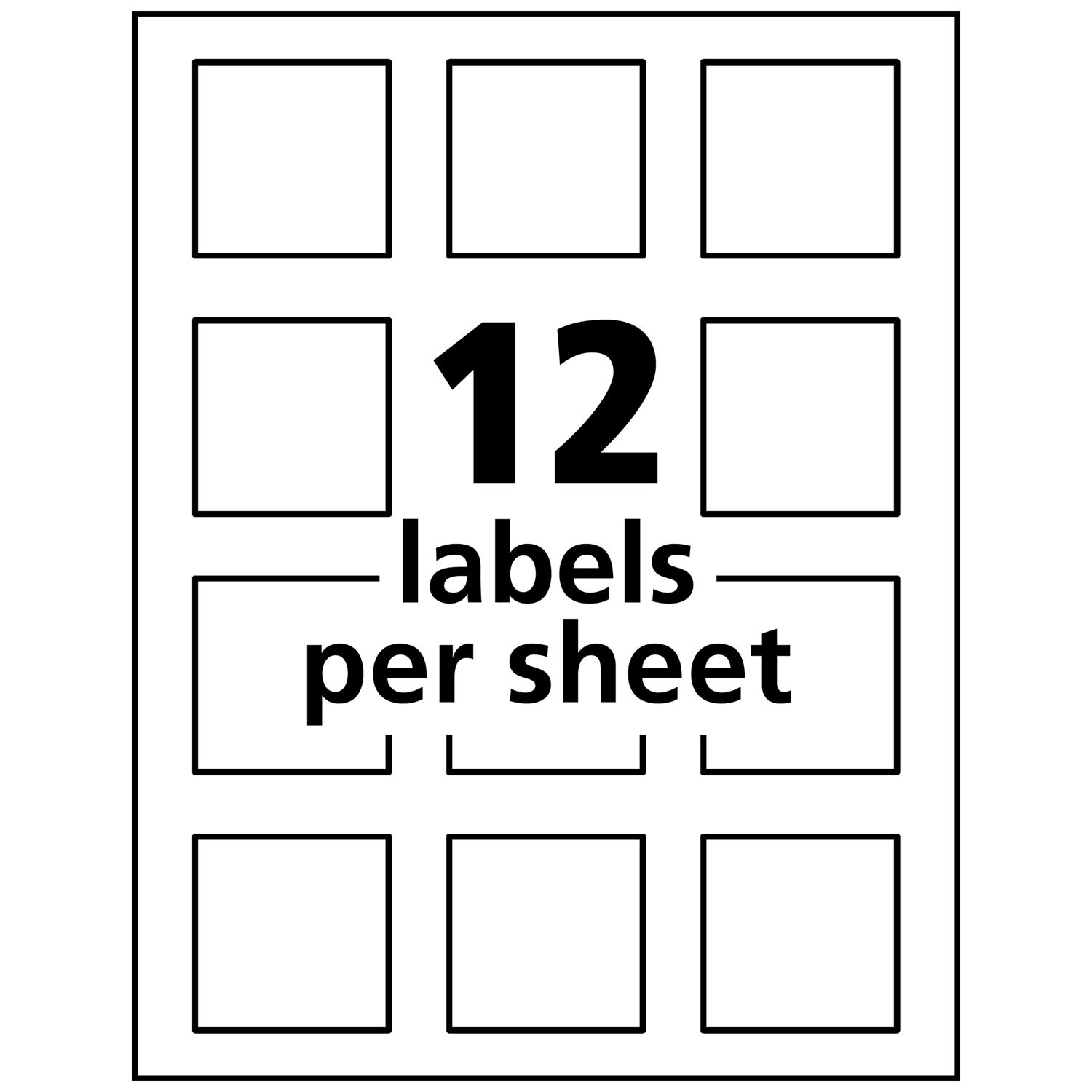 Avery Square Labels for Laser & Inkjet Printers, Print-to-The-Edge, 2'' x 2'', 120 Labels (22816) by Avery (Image #7)