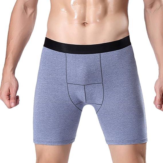 Zhhlinyuan ropa interior masculina Mens Comfortable Underwear Cotton Boxer Shorts Underpants Running Pants