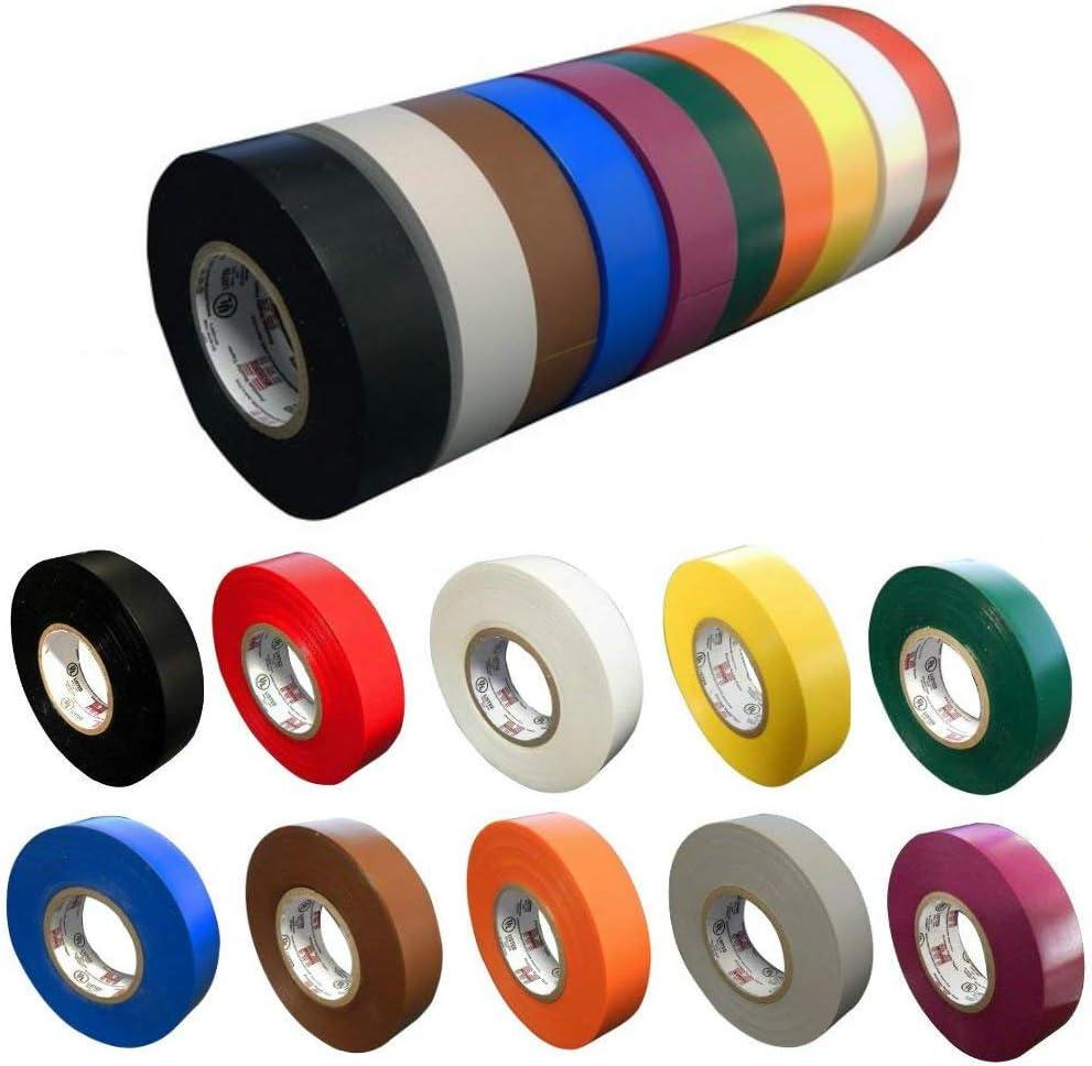 Morris 60090 Purple Vinyl Plastic Electrical Tape 7 mil 3//4 Width 66/' Length 3//4 Width Morris Products PVC 66 Length
