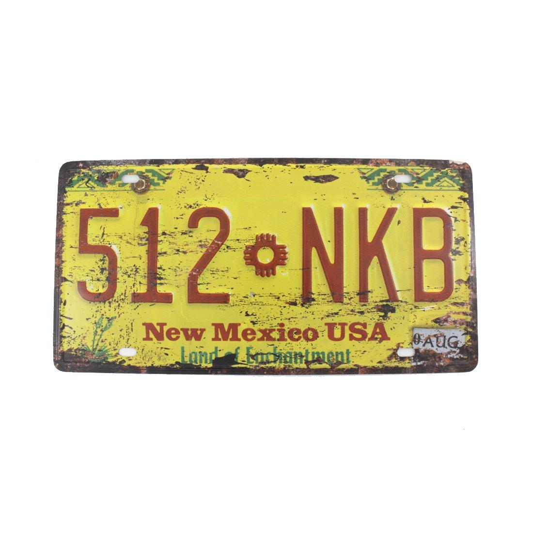 6x12 Inches Vintage Feel Home,bathroom,shop and Bar Wall Decor Souvenir Metal Tin Sign Poster Plaque (New Mexico 512 NKB)
