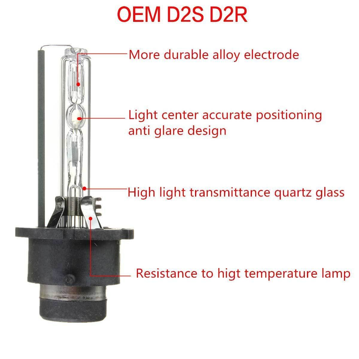 DICN Lot de 2 ampoules D2S Xenon 8 000/K couleur bleu glacier 35/W HID lampes OEM haute qualit/é pour remplacer 85122/85123/66040/53500