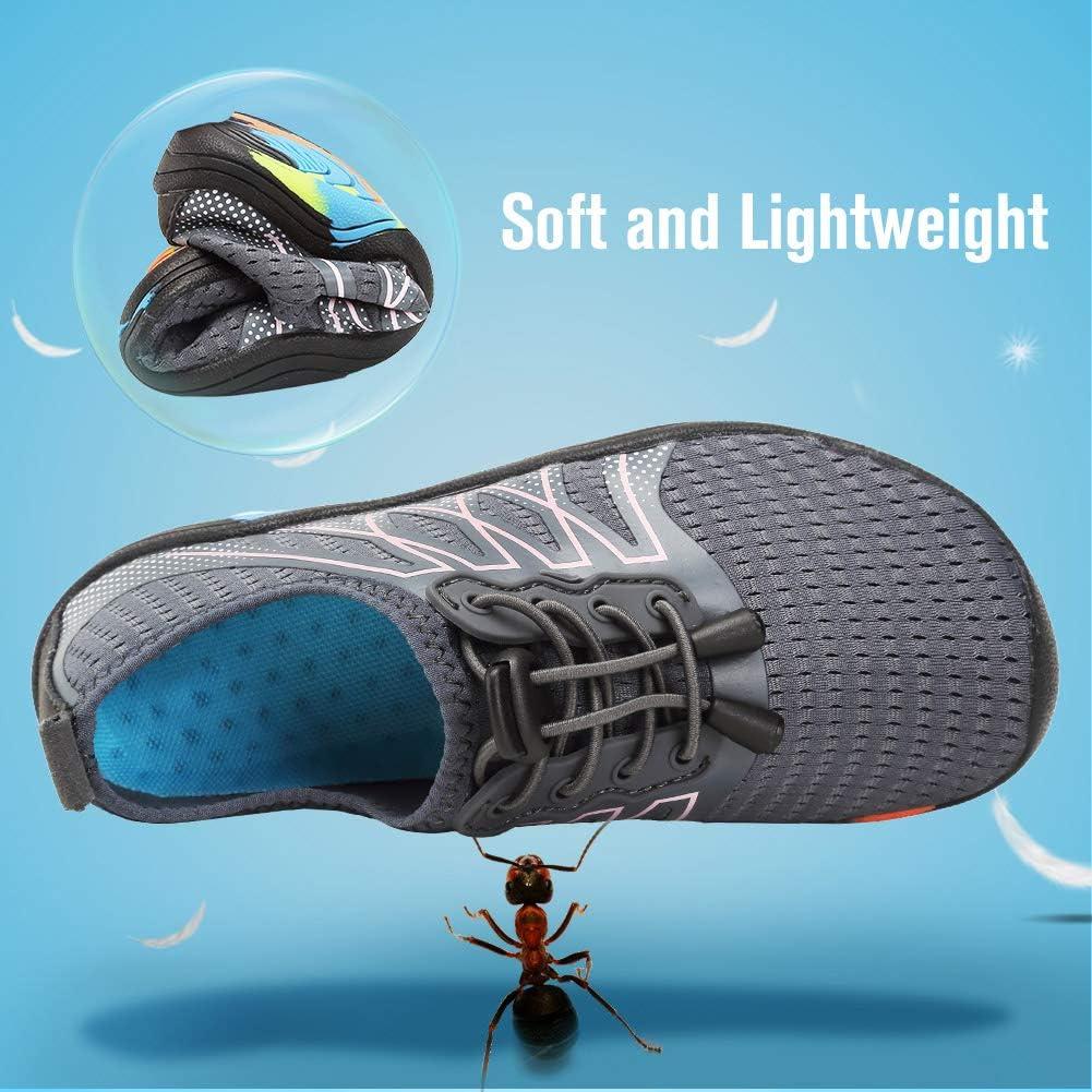 FANTURE Girls /& Boys Water Shoes Lightweight Comfort Sole Easy Walking Athletic Slip on Aqua Sock Toddler//Little Kid//Big Kid