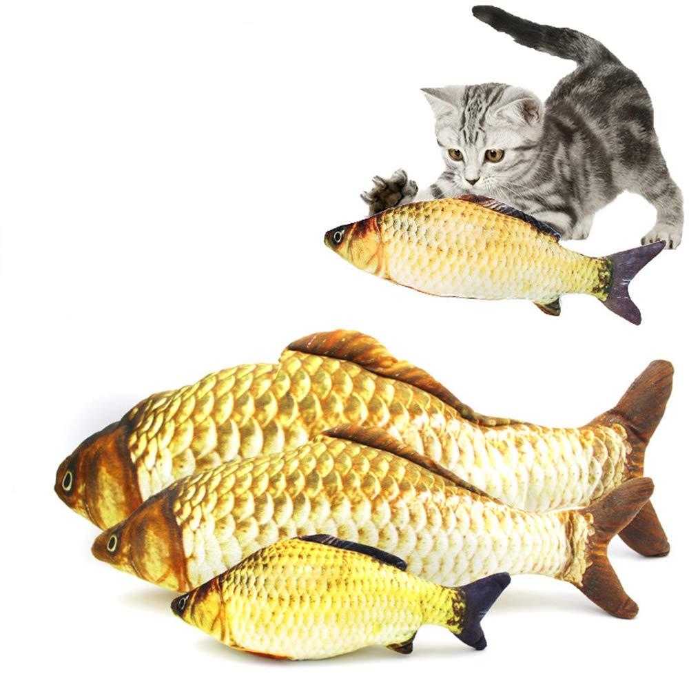 Large Pet Plush Toy Simulation Fish Cat Toy Mint Fish Pet Cat Supplies Plush Fish Simulation Fish,L
