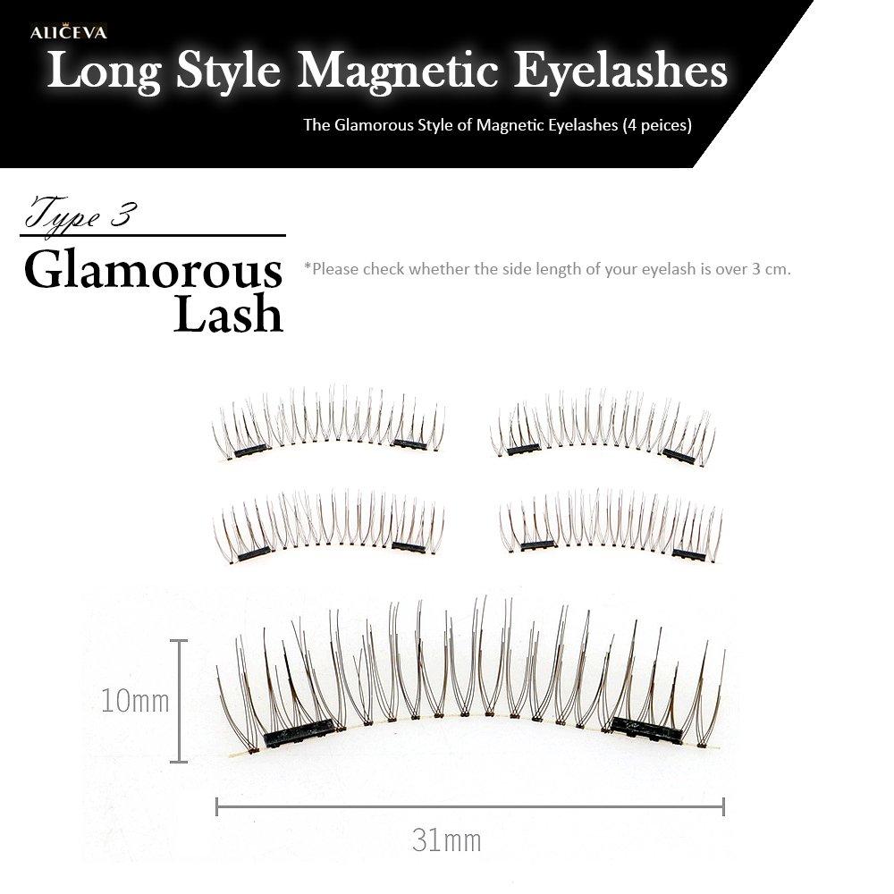 Type3 Long Dual Magnetic 3d Eyelashes Premium False Eyelash