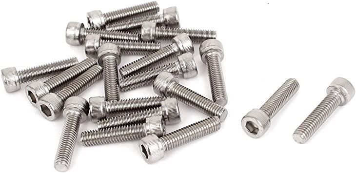 x 125mm Hex Socket Head Bolts C Plated Screws 2 pieces 6mm M6