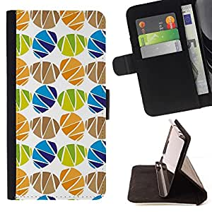 Momo Phone Case / Flip Funda de Cuero Case Cover - Patrón Huevo Holiday Blanca - Sony Xperia M2