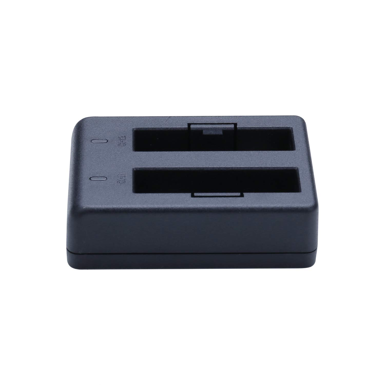 WiMiUS L1 baterí a con Cargador para GoPro Hero, 2 Canales 7/6/5 Black (Compatible con Hero5 microprogrammes v01.50, v01.55 y v01.57, v02.00, v02.51, v02.60 ( Pas de Cable ) v01.55y v01.57