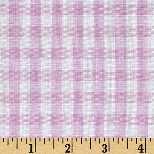 Richland Textiles G4R-005 Wide Width 1/4 Gingham Check Lilac Fabric by The Yard