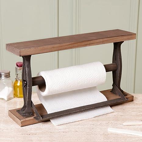 Rustico in legno e ghisa robusta Kitchen Holder - ottima vittoriano ...