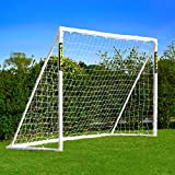 Net World Sports Forza Backyard Soccer Goals [6 Sizes] - Premium Weatherproof PVC Home Soccer Goal Posts