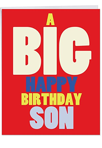 Amazon J6349BDG Jumbo Humorous Birthday Greeting Card Big HB