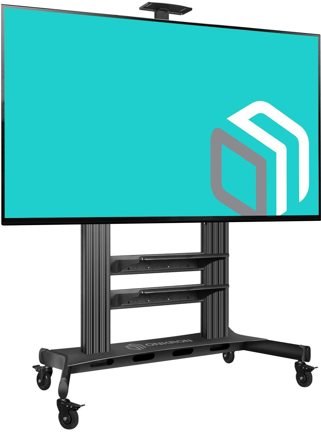 ONKRON Mobile TV Stand TV Cart for 60 to 100-Inch Flat Screens up to 300 lbs Black (TS2811)