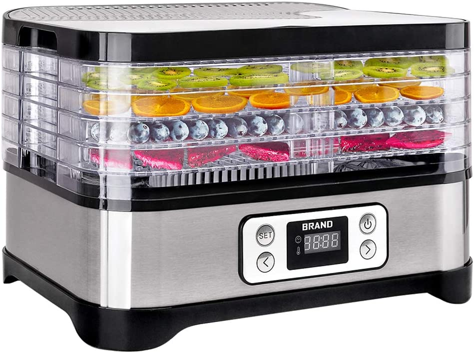 Gem/üsetrockner Dehydrator 5 Etagen BPA-frei D/örrger/ät f/ür Lebensmittel Erneuerung des Dienstes in einem Jahr Obst- Fleisch- Fr/üchte-Trockner ITSLIFE D/örrautomat mit Temperaturregler
