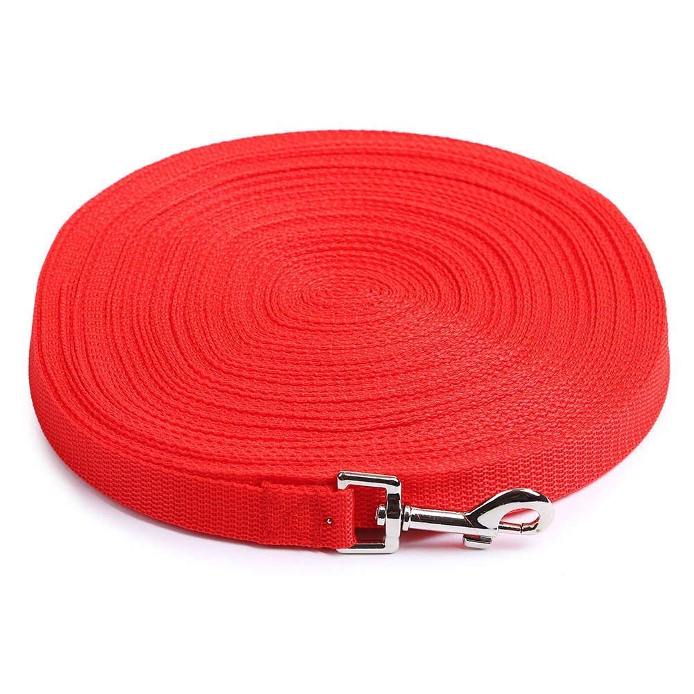 100 Feet, Red AuapTavw Dog Leash,Strong Durable Nylon Pet Dog Training Leash Camping Backyard Large,Medium Small Dogs,Long Lead,Great Training Traction Rope,3//4 Inch Wide Play