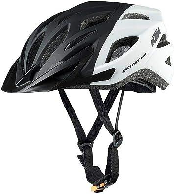 KTM - Casco para bicicleta, color negro y blanco, 673150254, negro blanco, 54 - 58: Amazon.es: Deportes y aire libre