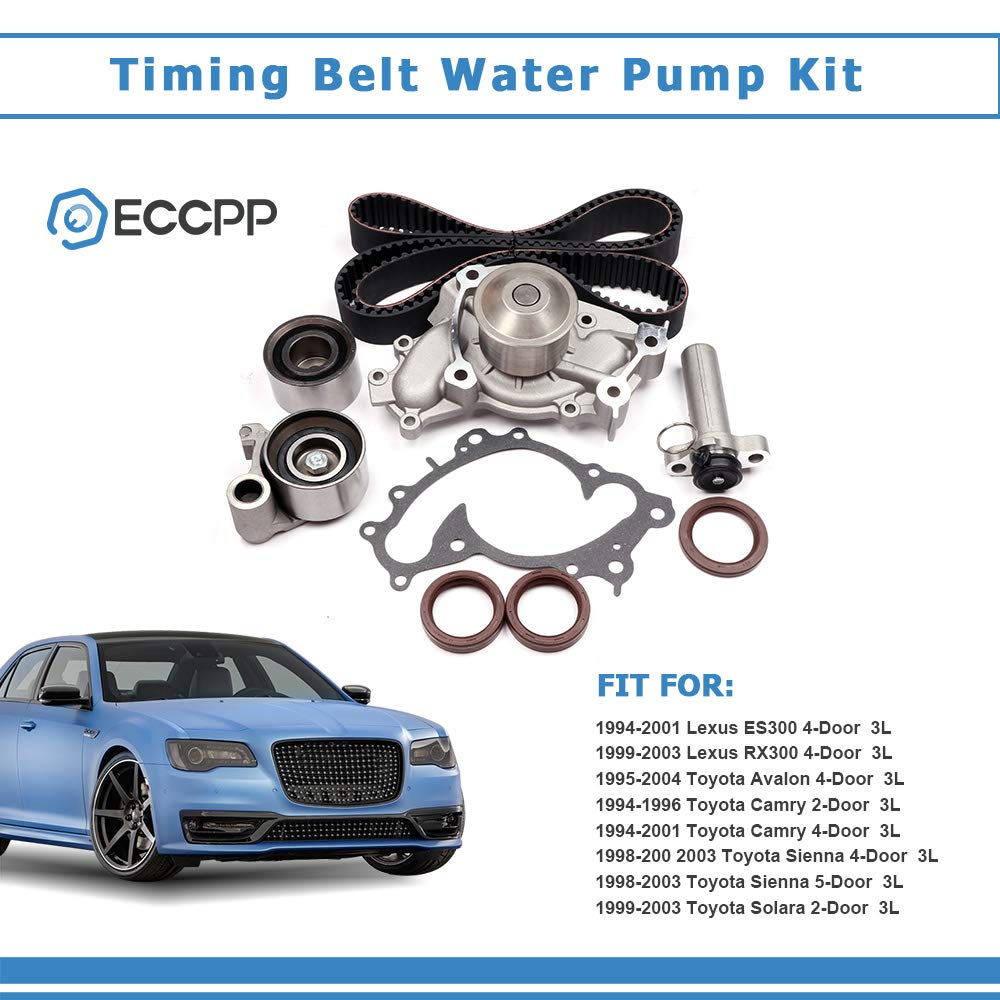 ECCPP Timing Belt W//Water Pump Kit For Toyota Lexus RX300 3.0L V6 DOHC 1MZFE 3MZFE