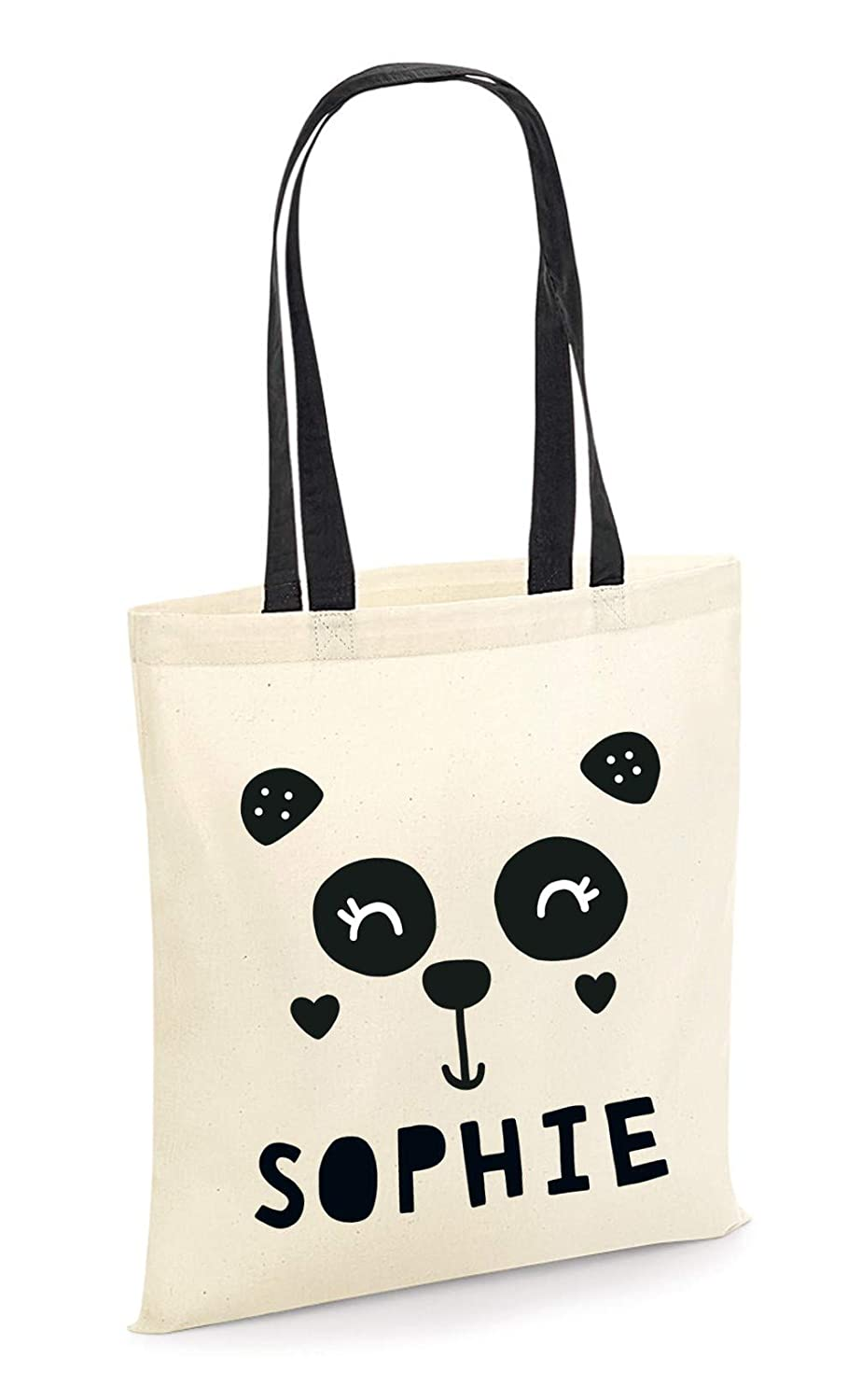 Personalized Name Panda Tote Bag