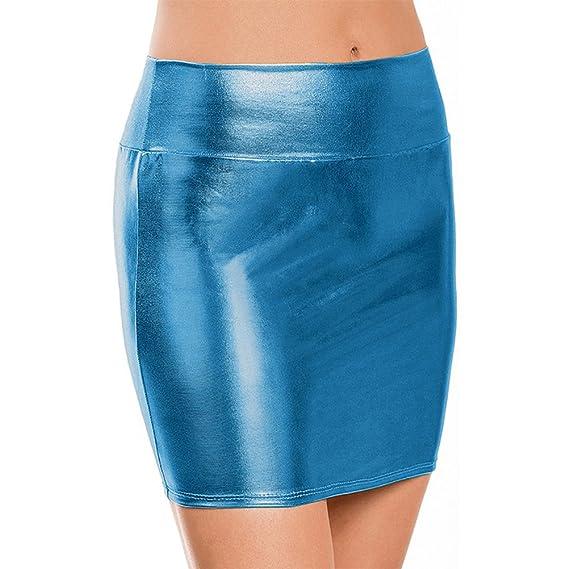 metálico Bodycon lápiz Faldas Faldas Cortas Sexy ,Nightclub Falda de Lápiz  Corta Sexy Metálico Brillo 1c31605c0b22