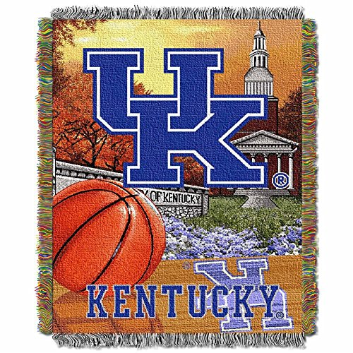 The Northwest Company Kentucky Wildcats NCAA Woven Tapestry Throw (Home Field Advantage) (Woven Triple Layer Tapestry Throw)