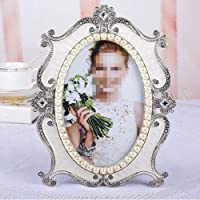 GYN Photo Frame Set Up Luxury 7 Inch Pearl Photo Frame Hanging Wall Creative Table Pen Can Add Photo