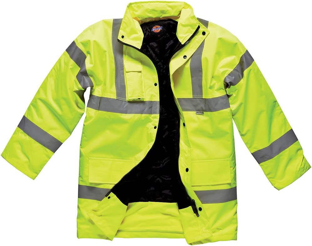 Dickies Premium Men/'s Reflective Jacket Yellow XX-Large
