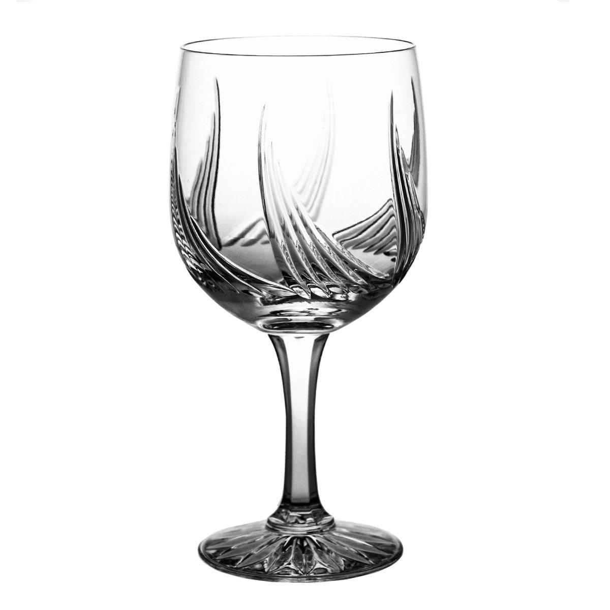 Pack of Aljulia 6642Water Glass Lead Crystal Carved-Retail Packaging-Alium Line, Set of 6, 500ml by Crystal Julia