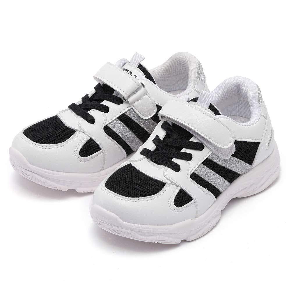 YanHoo Zapatos para niños Malla Dorado Brillante Zapatos ...