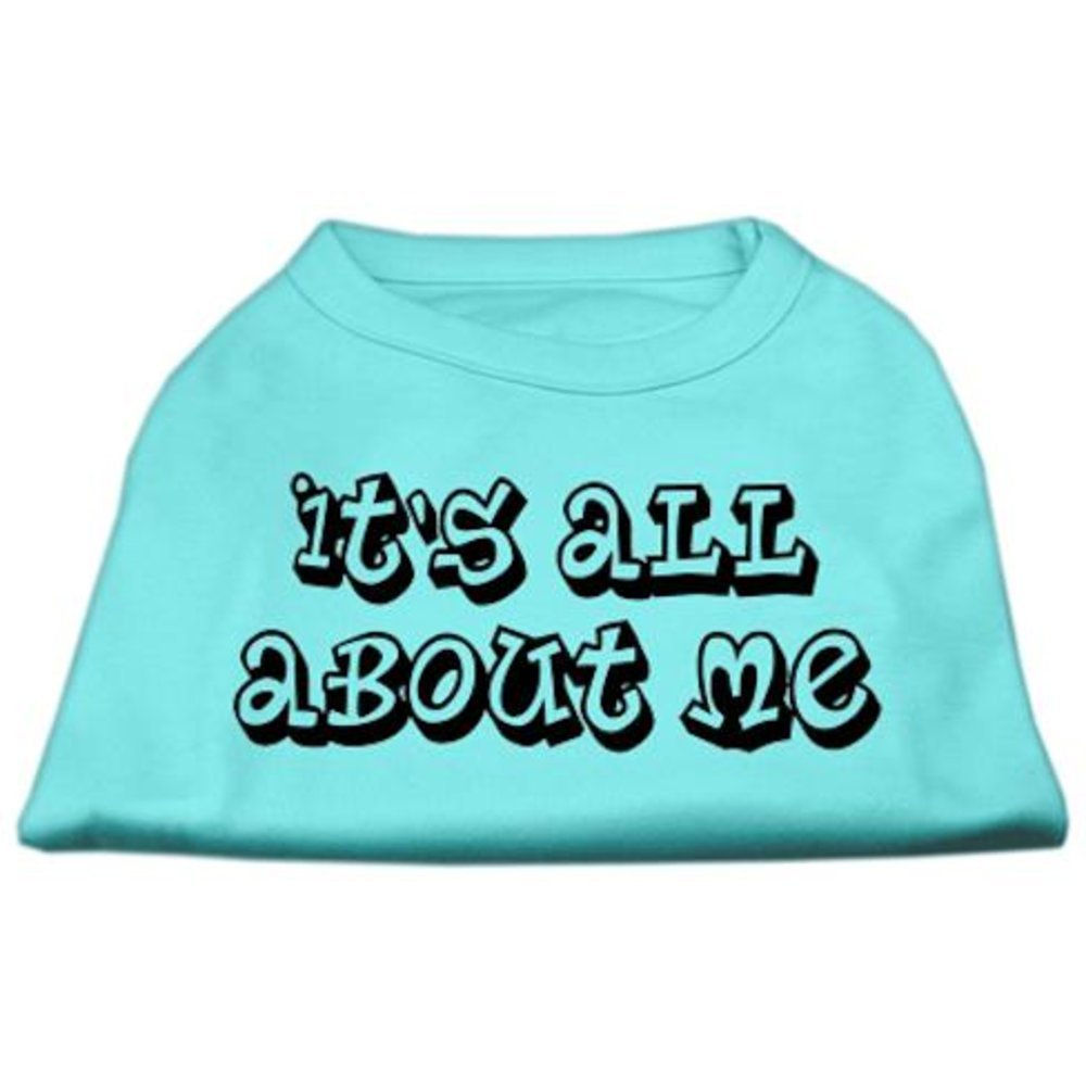 Dog   Cat   Pet Charms It's All About Me Screen Print Shirts Aqua XL (16)
