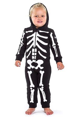 9b5cf76ae995 Tipsy Elves Children s Skeleton Halloween Costume - Infant Kids Baby  Skeleton Jumpsuit Costume  6-