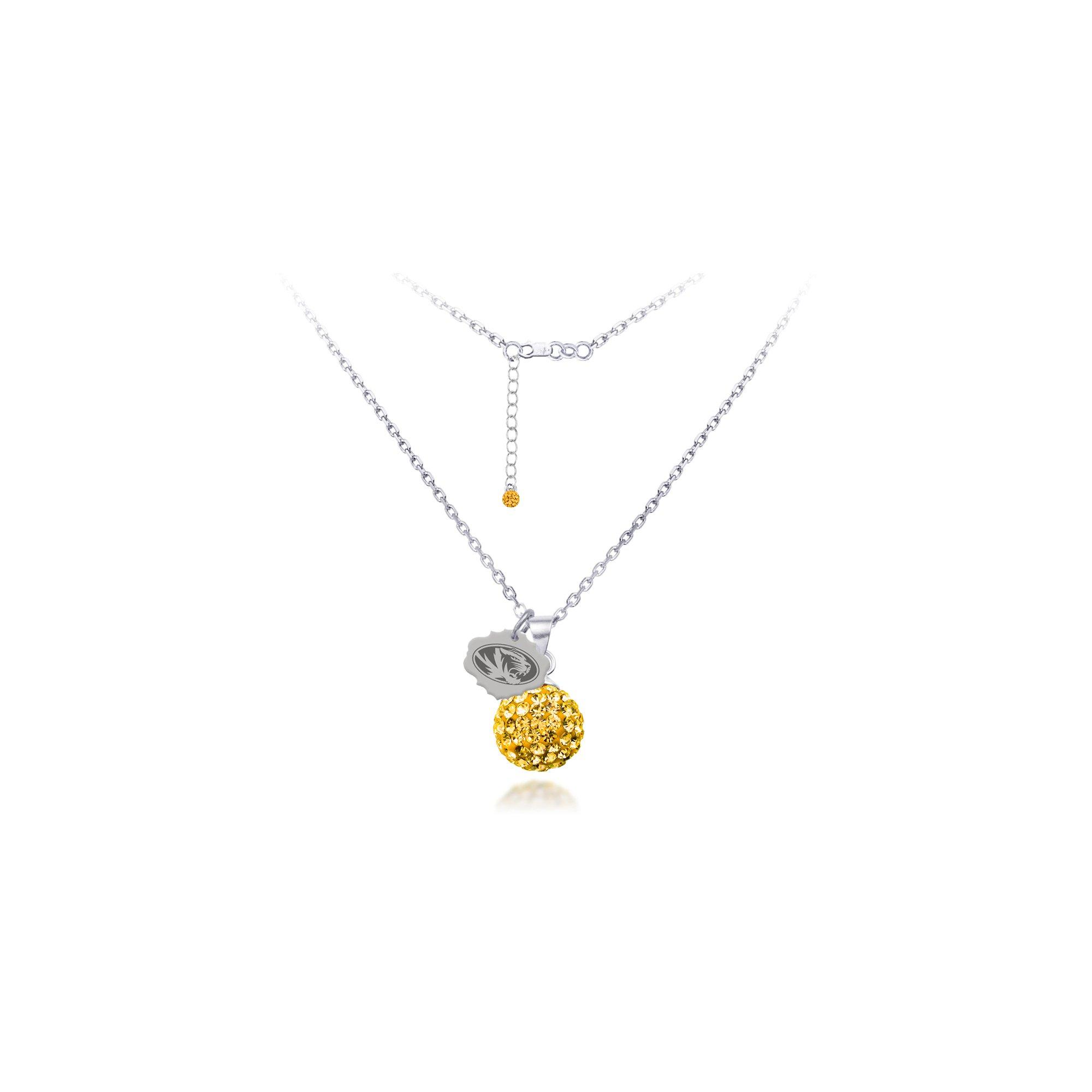 DiamondJewelryNY Silver Pendant, Spirit Sphere Neck/Univ Of Missouri
