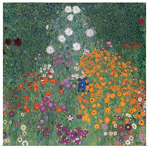 Great Big Canvas Poster Print Entitled Flowery Garden by Gustav (1862-1918) Klimt 35