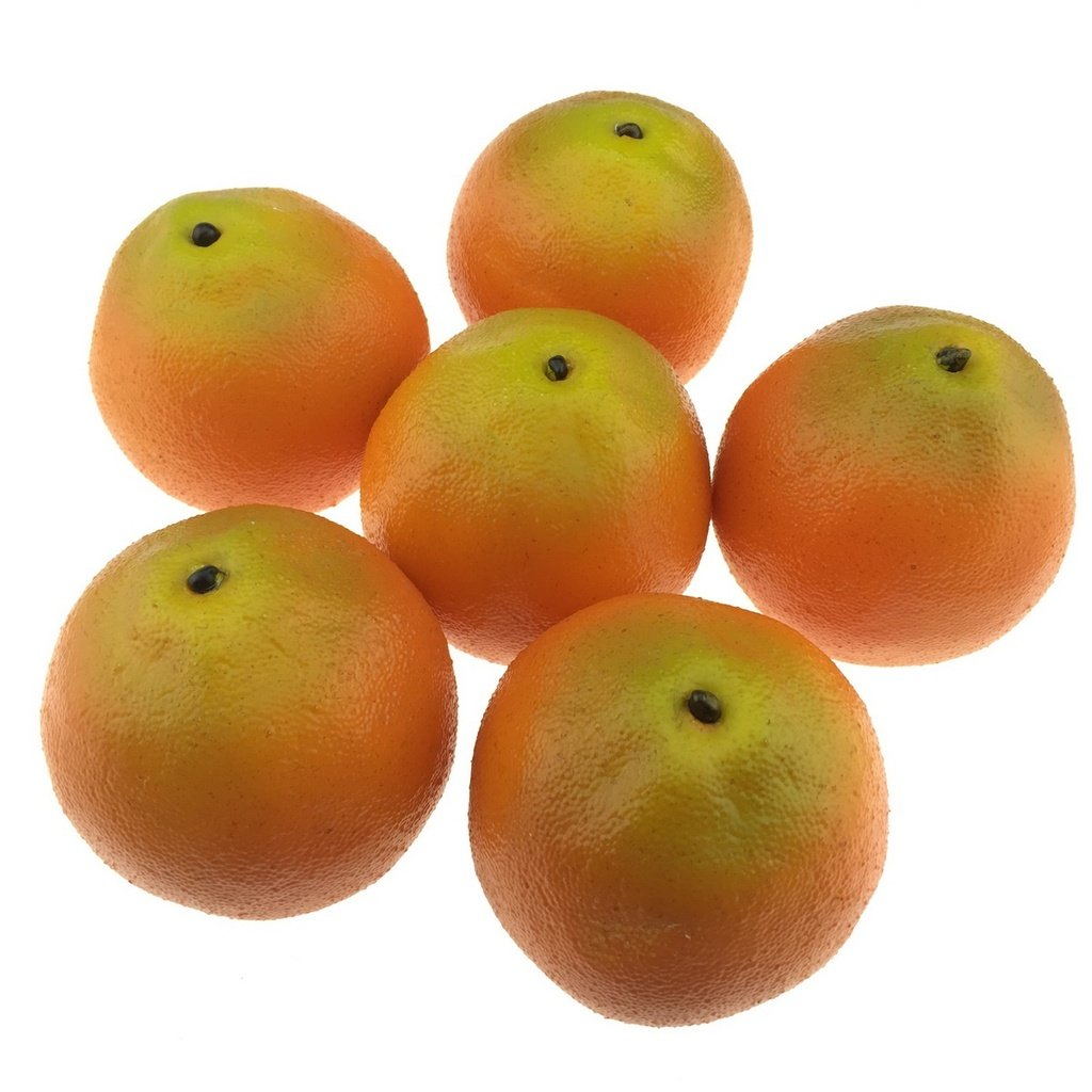 Gresorth 6pcs Artificial Orange Faux Fake Decorative Fruit for Home Kitchen Christmas by Gresorth