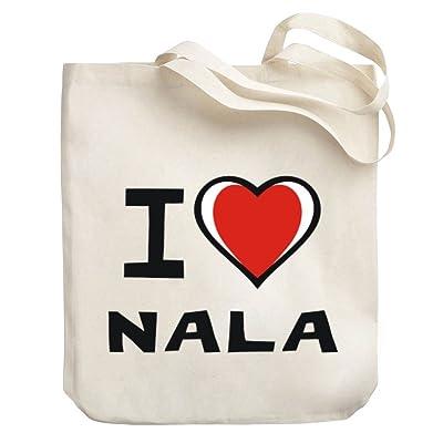 Teeburon I love Nala Canvas Tote Bag