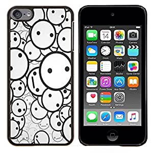 Smiley Patrón- Metal de aluminio y de plástico duro Caja del teléfono - Negro - iPod Touch 6