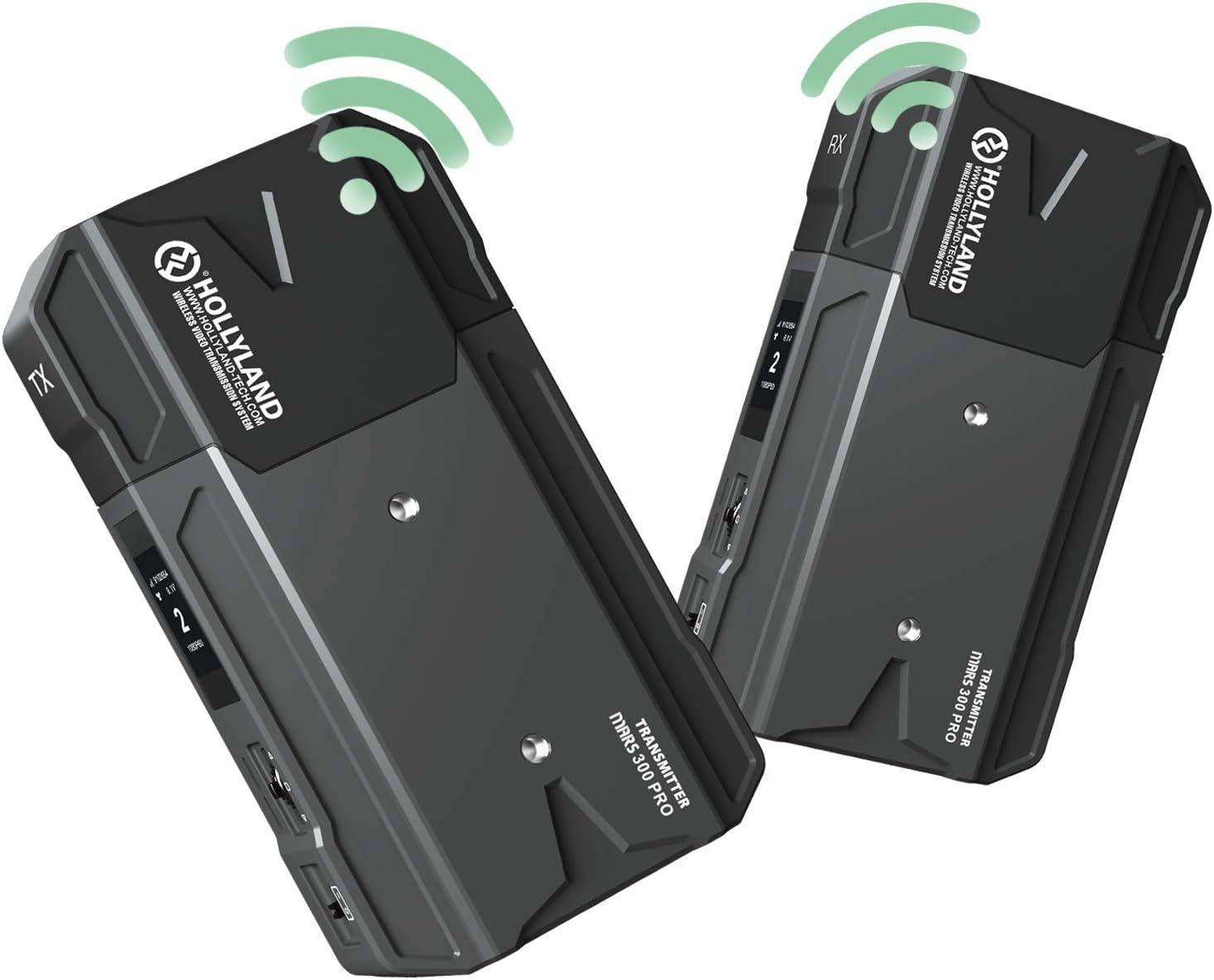 Hollyland Mars 300 Pro Sistema Transmisor-Receptor-HDMI-Inalámbrico-Vídeo 300ft HD 1080P, Compatible para Cámara DSLR Reflex