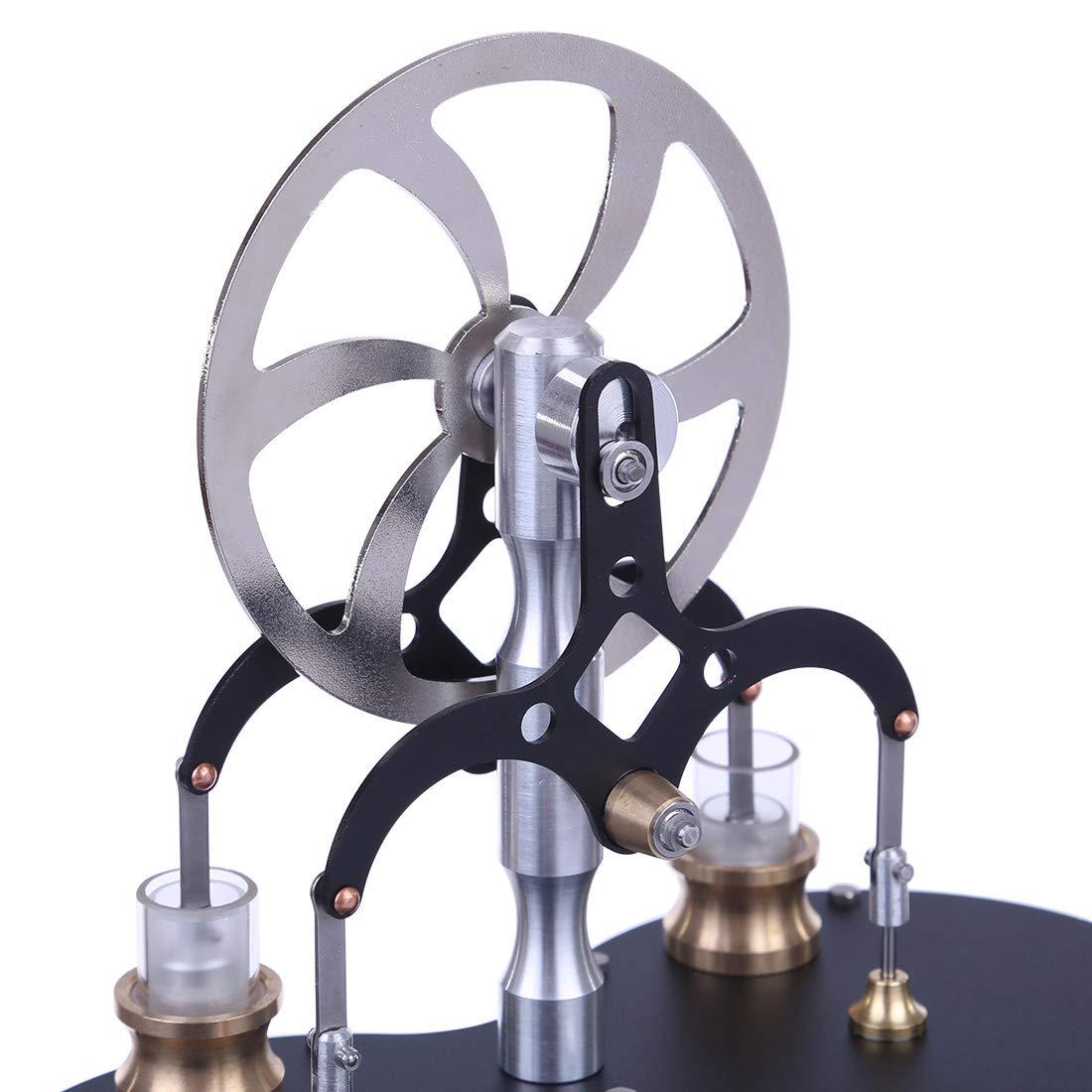 AMITAS Stirlingmotor Bausatz Niedertemperatur 2-Zylinder Stirling Engine Ab 8 Jahren