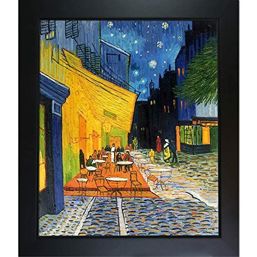 La Pastiche overstockArt VG415-FR-137B20X24 Vincent Van Gogh Cafe Terrace at Night 20-Inch by 24-Inch Framed Oil on Canvas ()