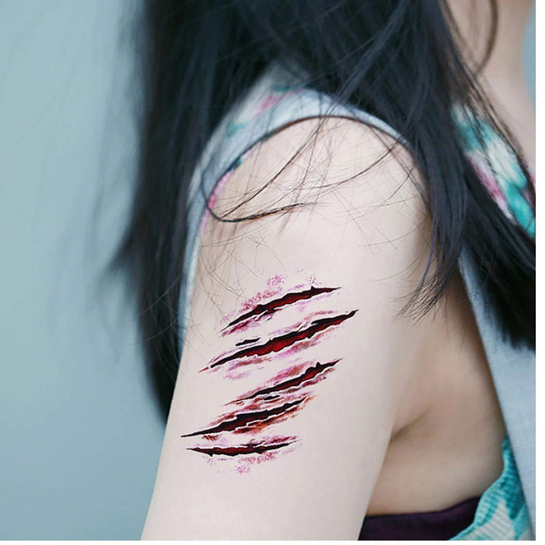 Puntada 3D De Halloween Del Horror Del Zombi Cicatrices Tatuaje ...