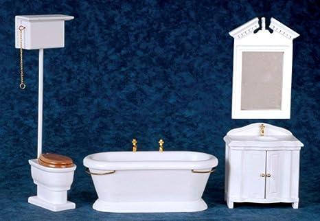 1//12 Scale Miniature Wash Basin /& Cabinet Set for Dollhouse Bathroom Scenery