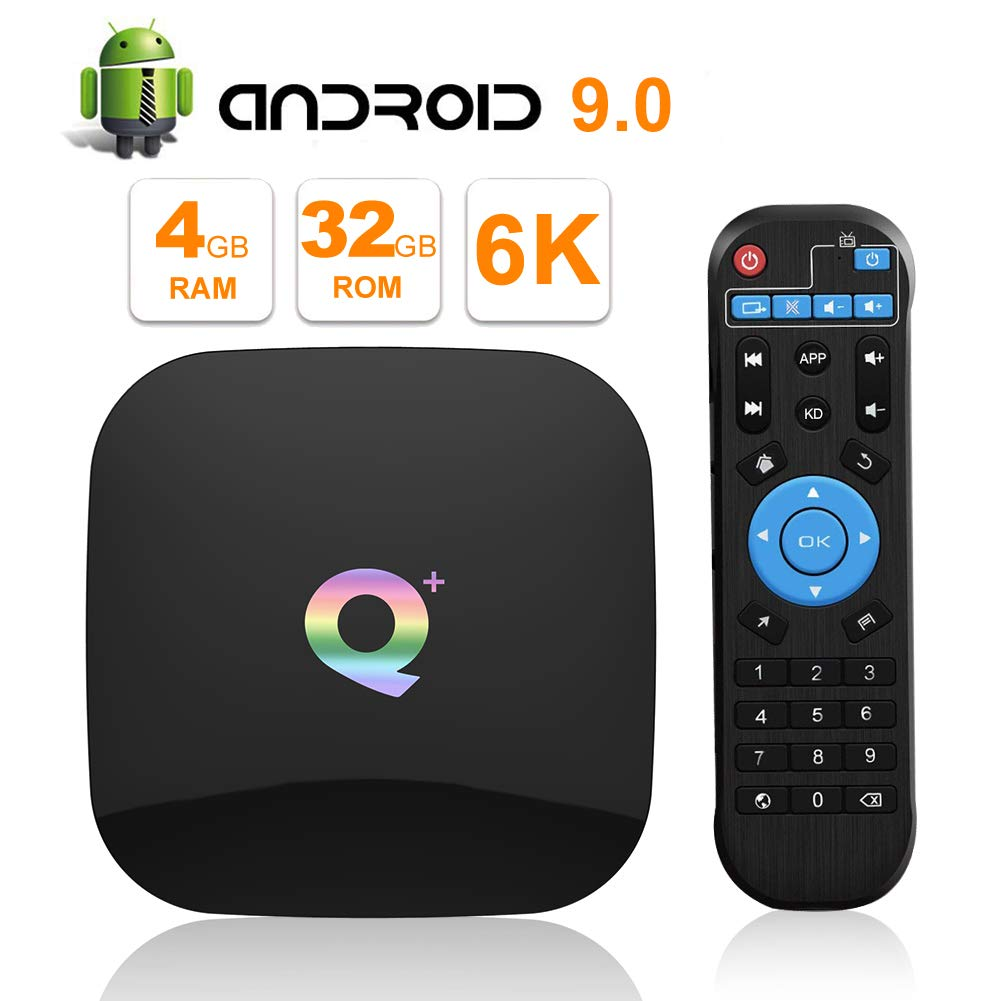 2019 Q PLUS Android 9.0 TV Box 4GB RAM 32GB ROM Wifi 2.4GHz Quad-core cortex-A53 HDMI 2.0 Support 6K 3D/H.265 by EVER EXPRESS