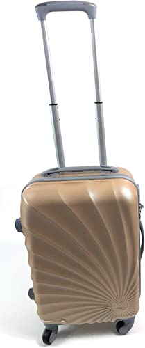 Hardside Spinner Luggage – 20-Inch, Carry-On-4 Wheels Gold Swirl