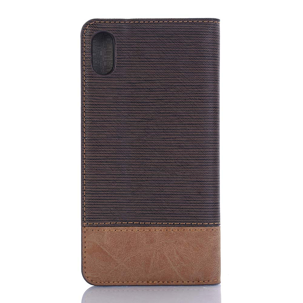 Case for iPhone XR,Miya Premium Pu Leather Case with Card Slot Cash Holder Pockets Kickstand Smart Case Folio Flip Shockproof Protective Cover for Ladies Men Girls for Apple iPhone XR - Dark Brown by MIYA LTD (Image #2)
