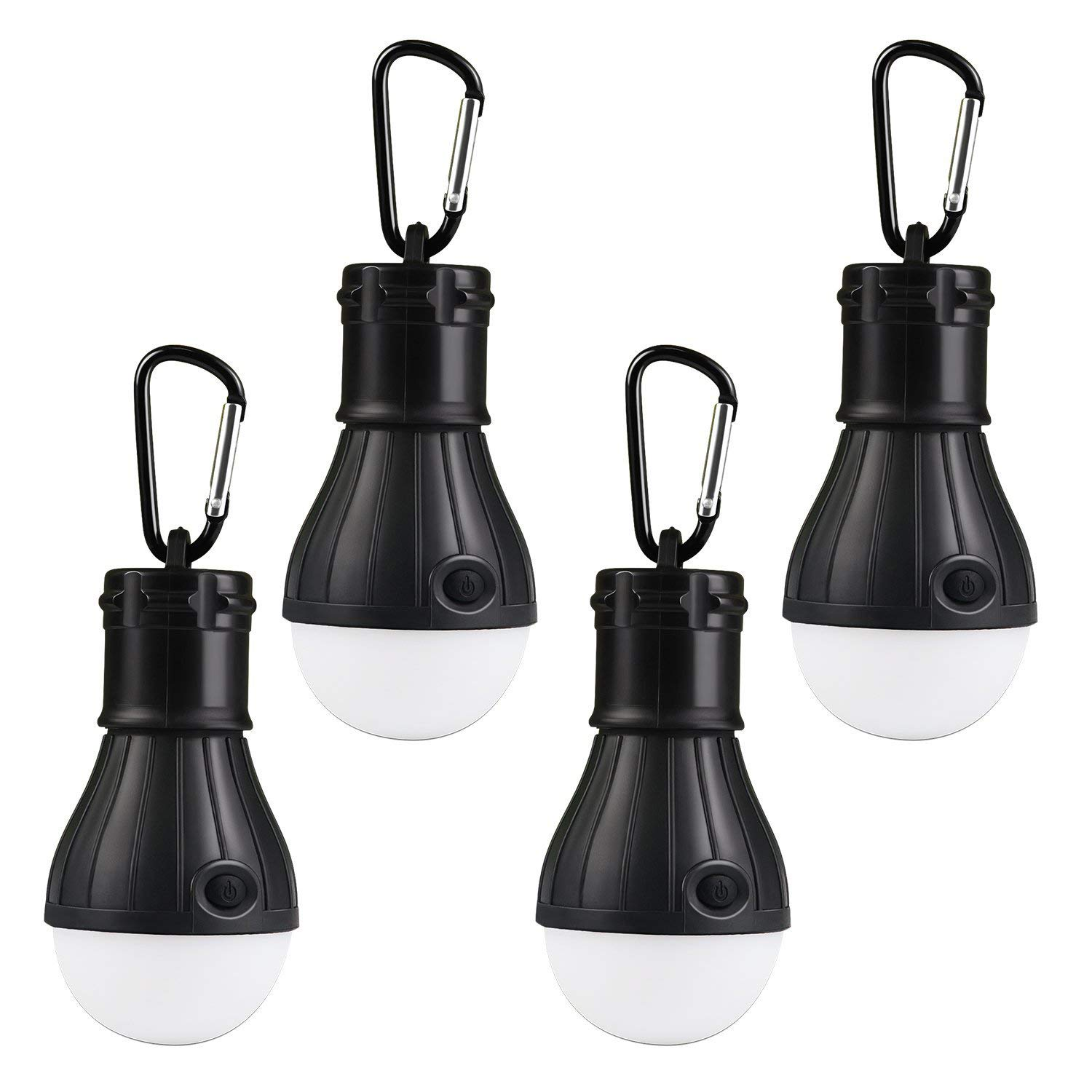 LED Camping Light, Lenpow Portable Tent Lantern 4 Modes Emergency Lamp Bulb,Bug Out Bag Equipment for Outdoor Activities Backpacking Hurricane Snowstorm Outage, Water Resistant Night light, 2 Pack
