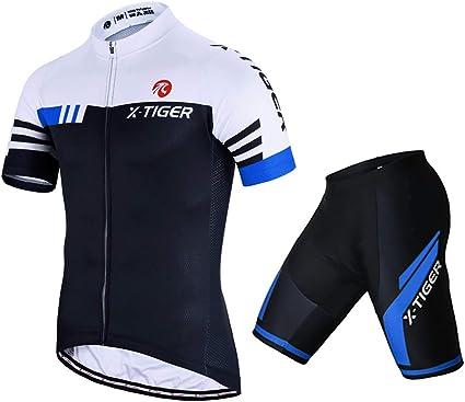 Maillot Cyclisme Pro Homme Manches Courtes V/êtement V/élo Short de Cycliste avec 3D Gel Rembourr/é Respirant Vetement Velo Route Homme
