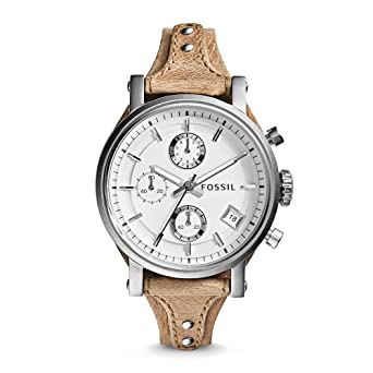 Fossil damen armbanduhr chronograph quarz leder es3625