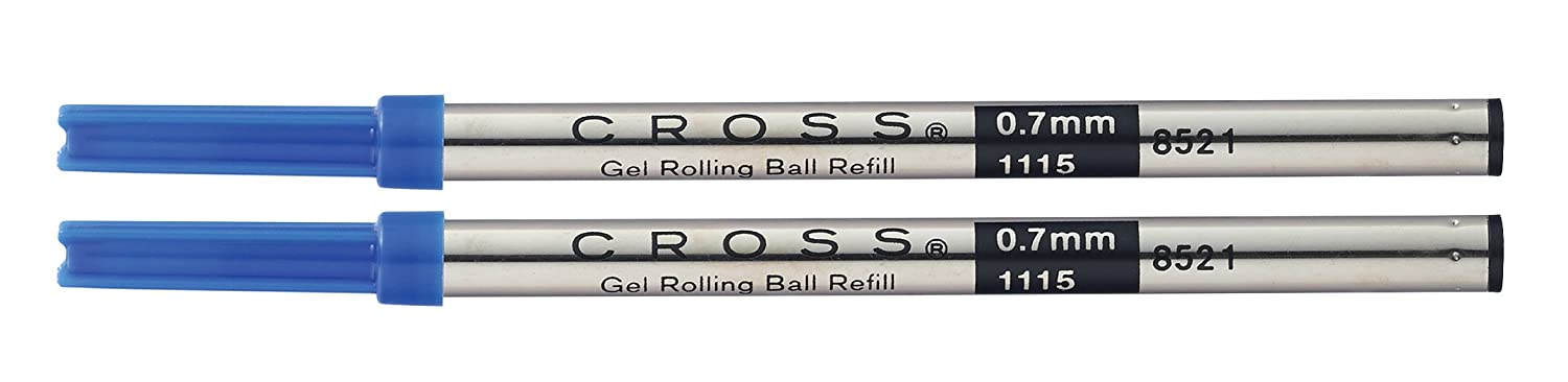 A. T. Cross Gel Rollerball Pen Refills Blue 2 Blister Packaging with Refill for all Selectip Pens 8521-2