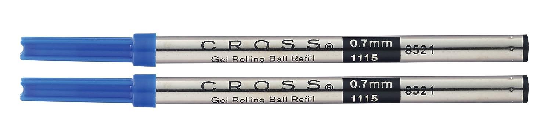 A. T. Cross Gel Rollerball Pen Refills Blue 2Blister Packaging with Refill for all Selectip Pens 8521-2
