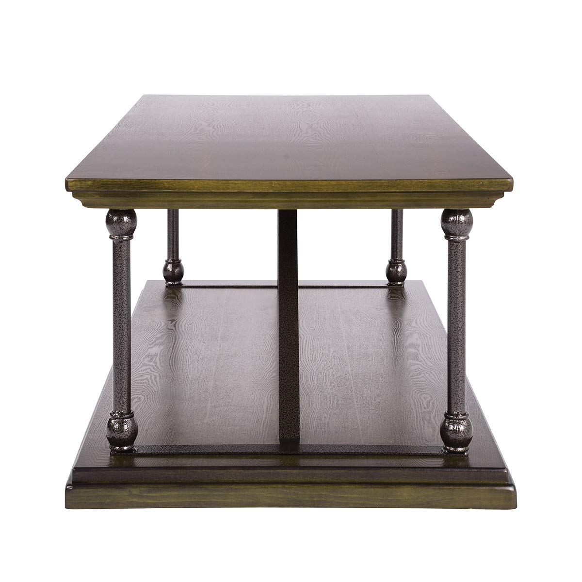 Wood Ihouse Wood Feet Accent End Table Coffee Table Tv Tray with Storage Drawer for Home Office