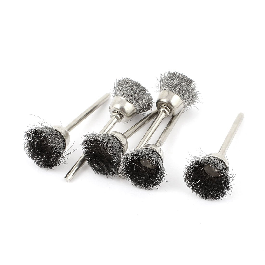 Sourcingmap® 3mm Shank 15mm Cup Dia Stainless Steel Wire Polishing Brush 6 Pcs US-SA-AJD-74796